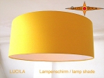 Lamp shade LUCILA Ø 50cm shining sun yellow cotton