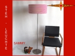 Floor lamp SAMMY h 155 cm red white ring around