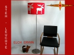 Kids floor lamp ELCH ERWIN floor lamp red