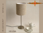 Small linen table lamp HELENA Table lamp Country style