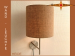 Wall lamp HEIDE Ø 20 cm jute nature farmers house