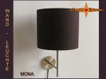 Wall lamp MONA Ø 25 cm linen in dark brown